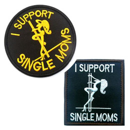 Wholesale Military Badge Embroidery - VP-216 1 support single mums military Patches Tactical embroidery Patches badges Hook & Loop Embroidery Badges army patch iron on