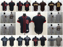 Wholesale Orange Bay - Elite San Diego Padres Tampa Bay Rays Customized Baseball Stitched Jersey Custom Men Women Youth 27 Kemp 19 Gwynn 3 Longolia
