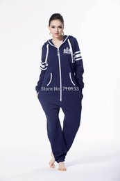 Wholesale Jumping Clothing - Wholesale- Printed one piece jumpsuit jump in tracksuit playsuit zip hoody fleece nordic way romper for playing unisex clothes