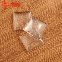 Wholesale Square Glass Cabochon Wholesale - 25MM 20MM 15MM DIY jewelry cheap flatback clear domed glass cabochon cover, square transparent beads glass domes sticker for blank pendant