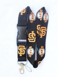 Wholesale Neck Lanyard Logo - New !! Hot 10pcs giants Baseball Sport Logo neck Lanyard keychain , Badge ID holder , straps - Free shipping