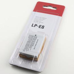 Wholesale Eos T3i - LP-E8 LP E8 LPE8 Camera Battery For Canon EOS 550D 600D 650D 700D kiss X4 X5 X6i X7i Rebel T2i T3i T4i T5i Batteries