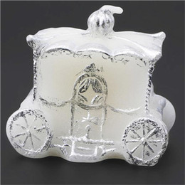 Wholesale Wholesale Paraffin Hand Wax - Pumpkin Carriage Candle Fairy Tale Elegant Gift Romantic Wedding Party Decoration Hand Craft Creative Candles Hot Artistic Gift 3fl F R