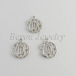 Wholesale Greek Charms - Wholesale- Greek ZETA PHI BETA Sorority alphabet charm ZPB charms product 20pcs 1 lot