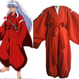 Wholesale Inuyasha Anime - Inuyasha cosplay costumes Japanese anime Inuyasha clothing Masquerade Mardi Gras Carnival costumes full set