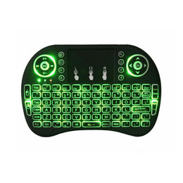 Wholesale red mini mouse - Fly Air Mouse 2.4G Mini i8 Wireless Keyboard With Backlight Red Green Blue Remote Controlers For MXQ M8S S905X S912 S805 RK3229 TV BOX 30P