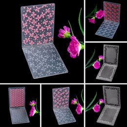 Wholesale Printing Folder - Wholesale- 1Pc Beautiful Small Stars Flowers Series Picture Printing Plastic Embossing Folders for DIY Paper Craft Decoration #230553
