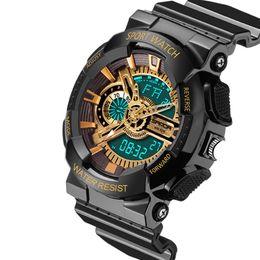 Wholesale Gold Pins Electronic - Fashion Watches men's sports watch G style Waterproof Luxury Analog Quartz Digital Electronics Wristwatches Relogio Masculino Drop Shipping