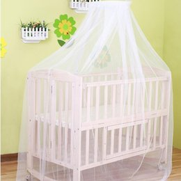 Wholesale Netting For Canopy - Wholesale- Baby Bed hung Dome Mosquito Mesh hung Dome Curtain Net for Toddler Crib Cot Canopy Bedding Crib Netting