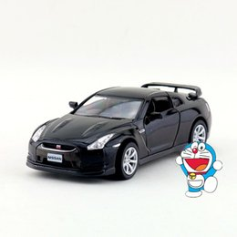 Wholesale Nissan R35 - Free Shipping 1:36 Scale 2009 Nissan GT-R R35 Sport Car Education Model Classical Pull back Diecast Metal toy Collection Gift