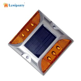 Wholesale Outdoor Led Step Lights - Wholesale- LumiParty LED Lamp Solar Power Panel Buried Lamp IP68 LED Street Road Stairs Step Floor Light Home Outdoor Lighting