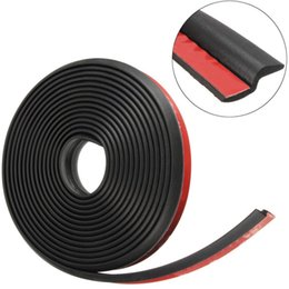 Wholesale Car Rubbers Seals - NEW Car Weatherstrip 4M Black Z-shape Window Door Rubber Seal Weather Strip Hollow Free shipping
