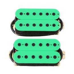 Wholesale Guitar Green - Green Hexbucker Humbucker Pickup Set, Bridge and Neck for HH Electric Guitar
