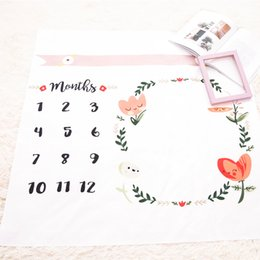 Wholesale White Photo Cloth - New Ins Baby photography background blanket photo prop Baby backdrops infant Flower Swaddling wrap Blanket soft Number print cloth mat WD208