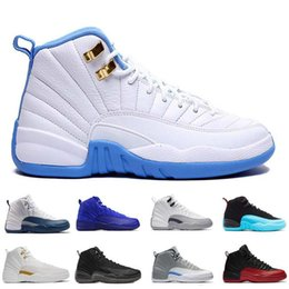 Wholesale Hottest Game Online - hot air retro 12 man basketball shoes ovo white flu game wool gym cherry red GS Barons french blue TAXI sneakers for online