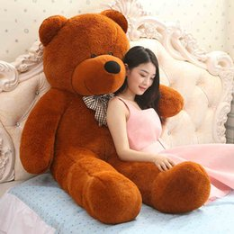 Wholesale Giant Plush Lovely Bear - Wholesale- Giant teddy bear 160cm large big stuffed toys animals plush life size kid children baby dolls lover toy valentine gift lovely
