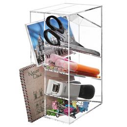 Moderno trasparente acrilico Office Desktop lettera ordinatore / Pencil Penna / Lucite Home Organizer da chiavi sorridono fornitori