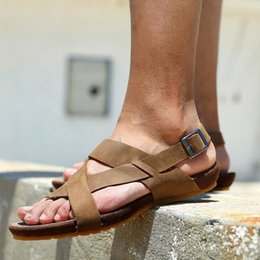 Wholesale Comfy Shoe Brands - Yellow Gray Cowhide Men's Sandals 2017 Summer New Z. Suo Brand Design Comfy Leisure Male Shoes Size 43 44 All Match Hot Sale