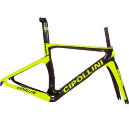 Wholesale Cheap Bicycles China - Newest style T1000 1k bicycle carbon frame sulfur yellow road bike frameset torayca bicycle frameset made in china cheap frameset