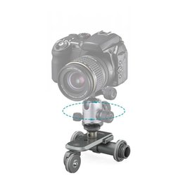 Wholesale Dolly For Dslr Video - PPL-06 Motorized Electric 3-Wheel Video Pulley Car Dolly Rolling Slider Skater for Cannon Nikon Sony DSLR Camera Camcorder