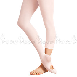 Wholesale Pink Dance Tights - Wholesale- Convertible Ballet Tights Pink Quality Ballet Dance Tights For Adults Spandex Soft Microfiber Girls Ballet Tights