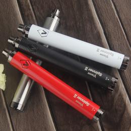 Оптовая видение 2 Spinner II батареи 3.3 v-4.8 v eGo C твист 1650mah переменное напряжение электронной сигареты eVod Vape Pen 510 атомайзер танк от