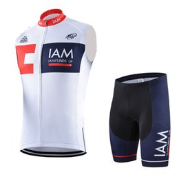 Wholesale team jersey vest cycling - Summer cycling sleeveless jersey men IAM pro team bike clothing quickdry tour de france cycling vest mtb bicycle maillot ropa ciclismo B2108