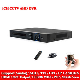 Wholesale Dvr Recorder Channel 3g - LLNIVISION HD CCTV 4CH AHD 1080P surveillance DVR NVR 8 channel AHD-NH 1080P HDMI Standalone security 3G WIFI DVR video recorder
