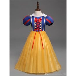 Wholesale Short Hollywood Dresses - hot sales Hollywood design baby girls play costumes skirt Halloween costumes wholesale Snow White princess Dress