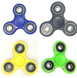 Wholesale Best Abs - Best Triangle Tri HandSpinner Finger Hand Fidget Spinner Top EDC Acrylic ABS Plastic Metal Gyro Decompression Anxiety Toys With Package