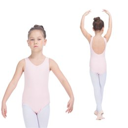 Wholesale Spandex Leotard Kids - Kids Ballet Leotards Cotton Lycra Low Back Basic Dance Tank for Girls and Ladies Practice Bodysuit Full Sizes Colors Available