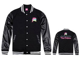 Wholesale Jacket For Men Discount - Pink dolphin jackets free shipping hip hop clothing for sale thick baseball coats fashion new style discount hiphop leather jacket