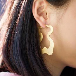 Wholesale Bear Stud Earring - E025S Stainless Steel Dangle Earring Studs Teddy Bear Earring 1 Pair Animail Gold Silver Fashion Jewelry