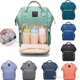 Wholesale Travelling Baby Diaper Bags - Mummy Maternity Nappy Bag Large Capacity Baby Bag Travel Backpack Desiger Nursing Bag for Baby Care Diaper Bags mini order 32 pcs