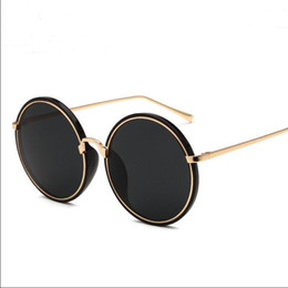 Wholesale Mirrors Ring - Sunglasses Fashion Accessories Eyeglasses Sunglasses for Women men NEW 2017 Casual tourism Colorful UV400 PC Metal Inner ring frames