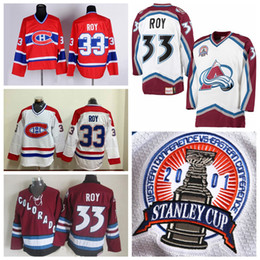 Wholesale vintage canadiens jersey ccm - PATRICK ROY Colorado Avalanche 2001 CCM Vintage Stanley Cup Hockey Jerseys White Montreal Canadiens Jersey Stitched Logo