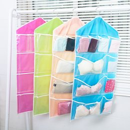 Wholesale Hanging Sock Organizer - Foldable Wardrobe Hanging Bags Socks Briefs Organizer Clothing Hanger Closet Shoes Underpants Storage Bag Wear Durable Hot Sell 3 8bx J1 R