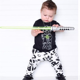Wholesale Tutu Stars - 2017 summer fashion baby boy clothing set short sleeve black baby boys clothes star wars t-shirt+pants newborn 2pcs suit