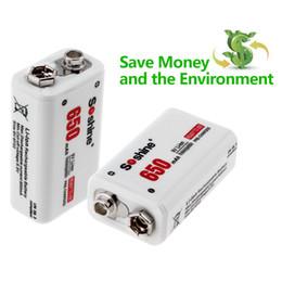 2019 батарейки для элементов питания 377 Soshine 9V 6F22 650mAh литий-ионная аккумуляторная батарея + портативный аккумулятор Bll_90f