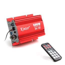 Wholesale Amplifier Digital Radio - Kinter MA-700 500W Digital Auto Car Motorcycle 2 Channels Audio AMP Amplifier FM Stereo Radio with Remote Support USB MP3 FM Input CEC_838