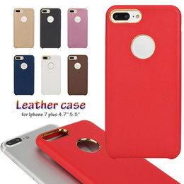 Wholesale Hole Metal Cover - Retail Sale Iphone 7 Plus Leather Case With Metal hole Ultra Thin Slim Cases PU leather Back Cover For iPhone 7 Plus Free Shipping MOQ:1pcs