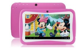 """Wholesale Learning Chinese English - 7 """" children's Tablet PC learning machine students Tablet PC education Tablet PC Android 4.4 quad-core 512MB 8GB 1024x600 Bluetooth"""