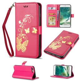 Wholesale Printed Mini - Bronzing Printing Leather Wallet Case Butterfly Newest Cover For Samsung S5 S6 S7 S4 S5 Mini S6 Edge Plus
