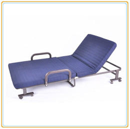 Wholesale Metal Cot Beds - Hotel Resorts Metal Foldable Bed Outdoor Camp Cot Comfortable Mattress Steel Structure Anti-Dust Fabric Cover Anti-Slippery Pad Offer