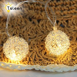 Wholesale Cheap Led White Christmas Lights - Wholesale- Cheap Sale 4X 20 LED String Copper Wire LED light Waterproof 3X AA Battery Powered LED Holiday Wedding Light decorativas Garland