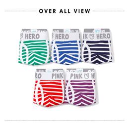 Wholesale Cheap Underwear Clothes - Pink Heroes 5pcs lot Men Underwear Boxers Fashion Striped Cotton Mens Boxer Underwear Cheap Brand Clothing Men Underwear Shorts