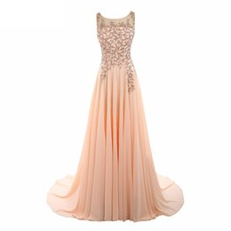 Wholesale Crytal Long Prom Dress - Real Photo Prom Dresses 2017 With Crytal Beading Custom made Sleeveless Appliques Scoop Neck A Line Vestido de Fasta
