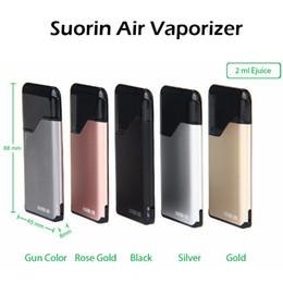 Wholesale Liquid Vaporizer Wholesale - Original Icub Suorin Air Vaporizer Kit 2ml Cartridge 400mAh Battery Fashion Portable E Cigarette E Liquid Vape Kit