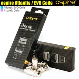 aspire atlantis mega Promotion 100% Original Aspire Atlantis Bobine EVO Bobines Bottom Vertical sub ohm Remplacement Atomiseur Core Head Pour Aspire Atlantis 2 Mega EVO Tank DHL