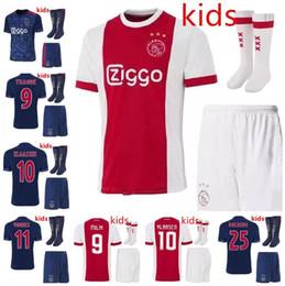 Wholesale Ajax Shorts Football - 2017 2018 Ajax FC kids soccer jersey 17 18 KLAASSEN FISCHEA BAZOER MILIK home away football uniforms shirt AJAX kids Children's